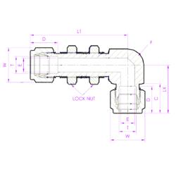 Соединитель угловой с креплением на панель BUED Эскиз