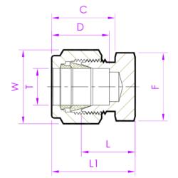 Заглушка трубная TCD Эскиз