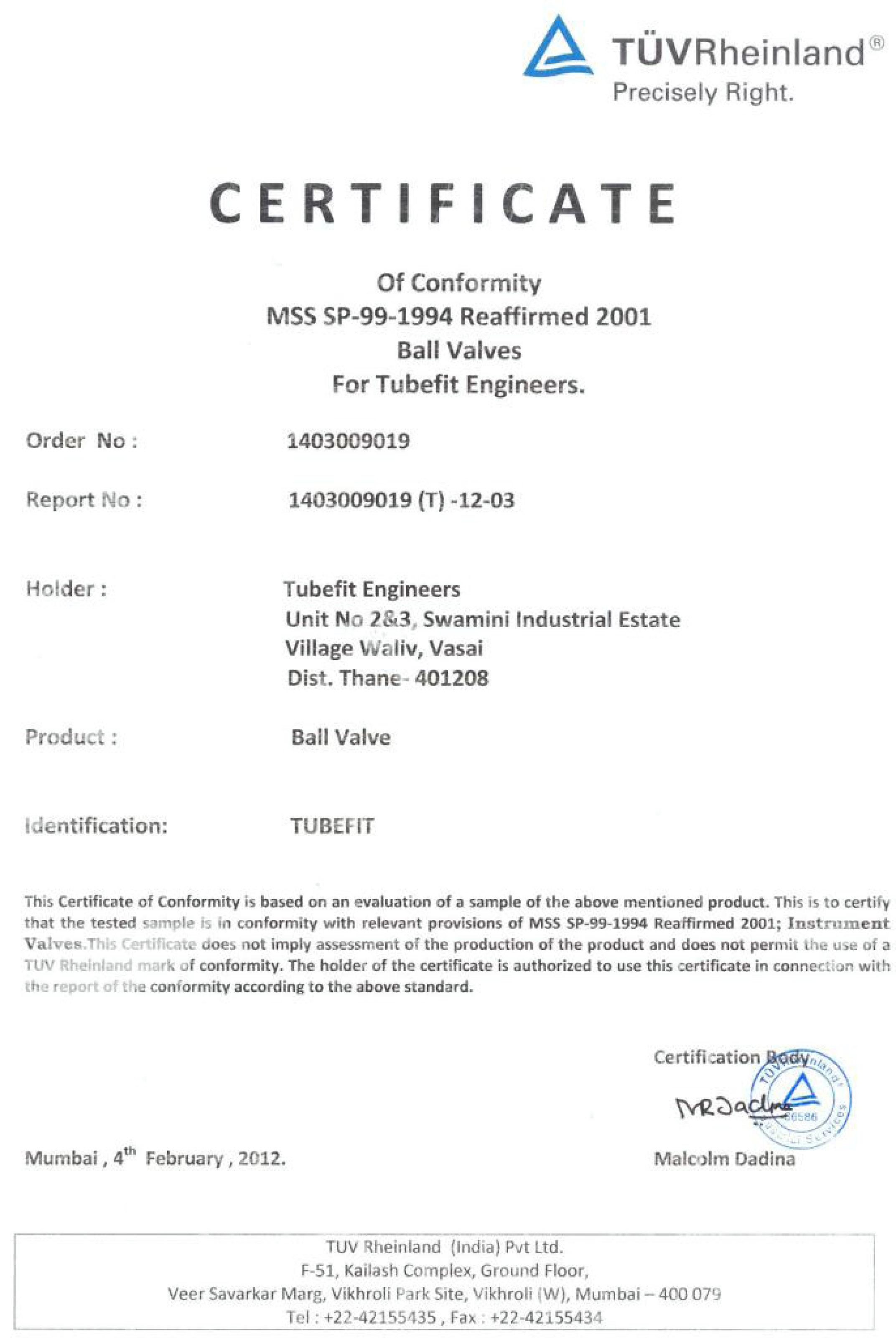 MSS SP-99-1994 Reaffirmed 2001 Ball Valves