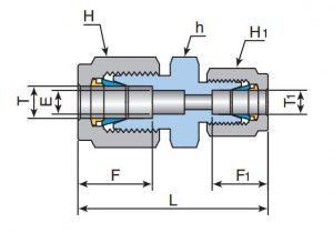 Соединение прямое переходное URU-Эскиз