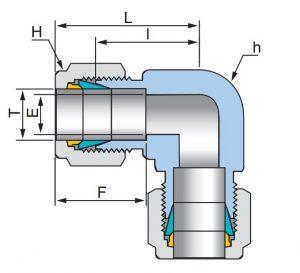 Соединение угловое промежуточное UEU- Эскиз