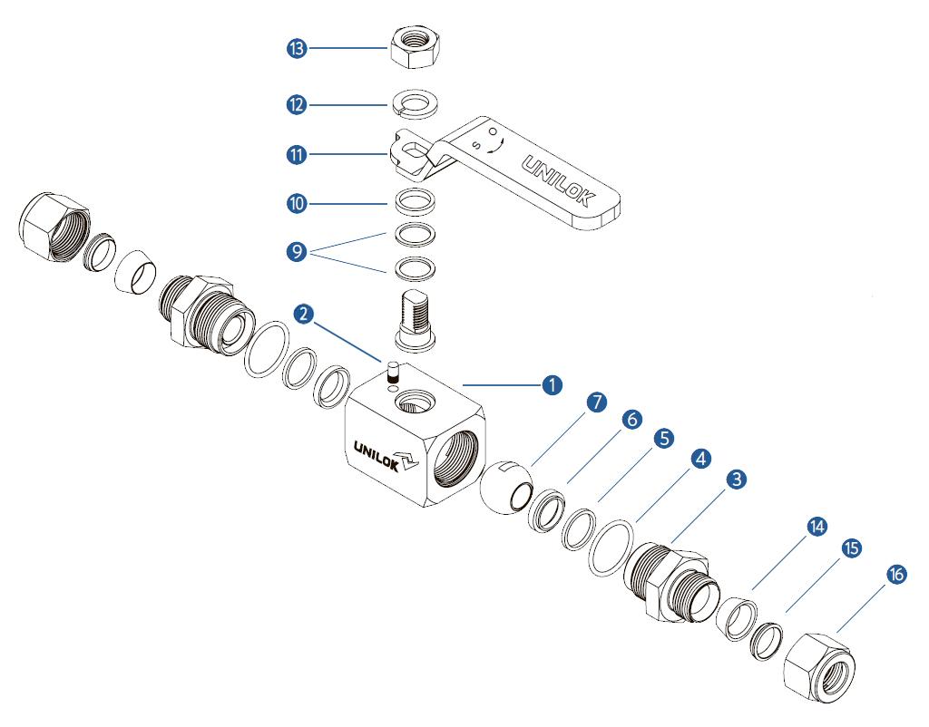 Цельнокорпусный шаровой кран на высокое давление VB6B - спецификация