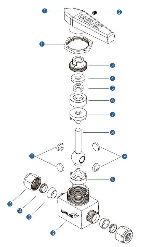 Цельнокорпусный шаровой кран VB3 - Спецификация
