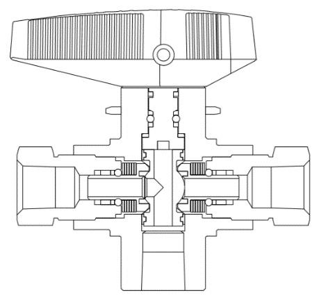 Цапфовый шаровой кран VBT- продукция Unilok