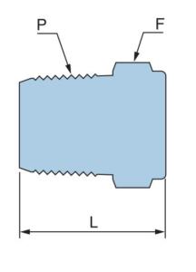 Заглушка с наружной резьбой PPG - Эскиз