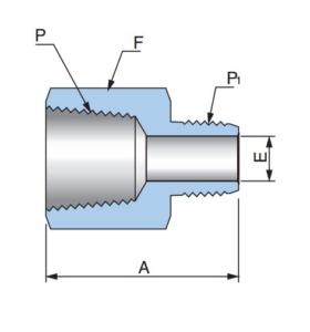 Понижающий резьбовой адаптер PRA - Эскиз