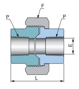 Соединительная муфта для труб PU - Эскиз