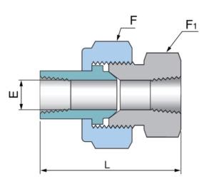 Шаровой шарнир с внутренней резьбой PBJ - Эскиз
