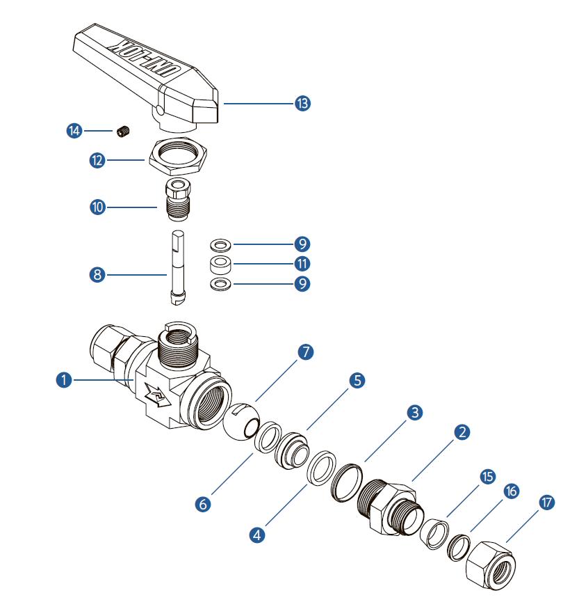 Спецификация шарового крана на высокое давление VB6F