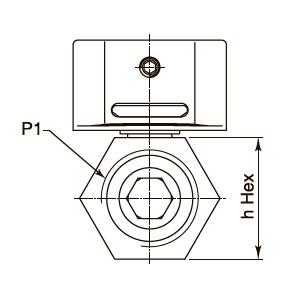 Эскиз шарового крана VBM1